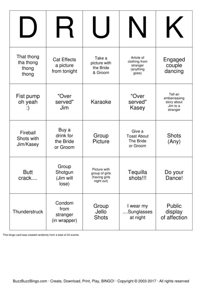 Download BAR BINGO Bingo Cards