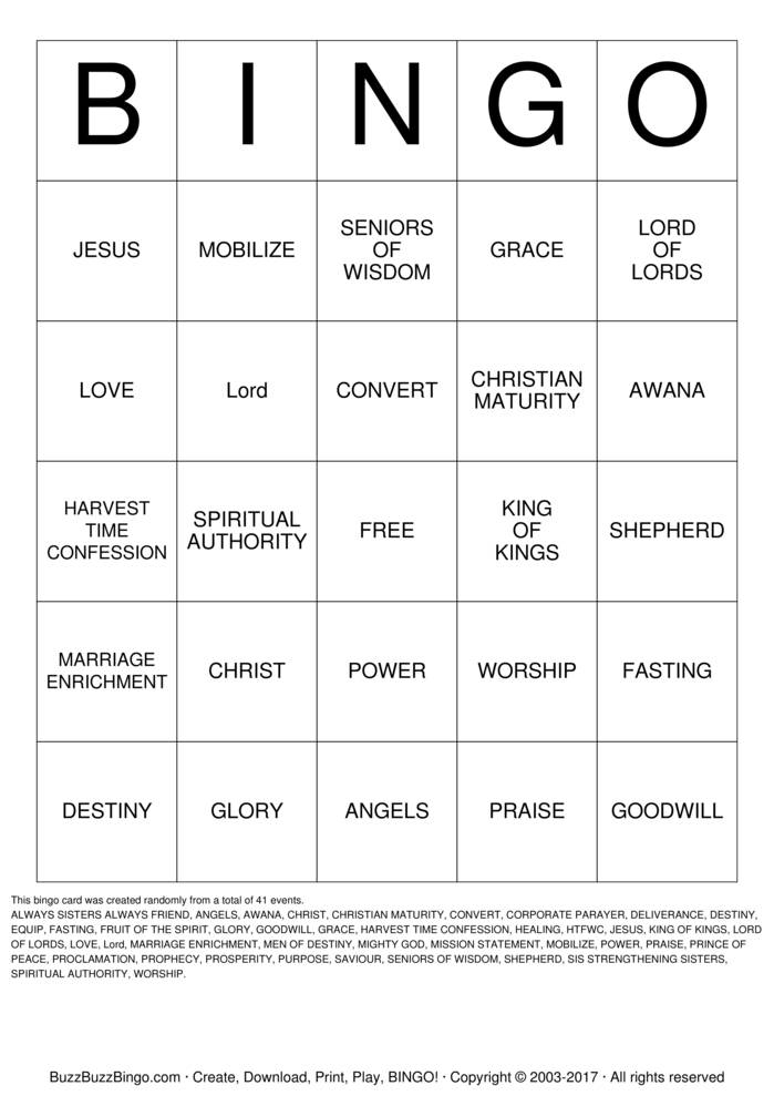 Religious Bingo Cards to Download, Print and Customize!