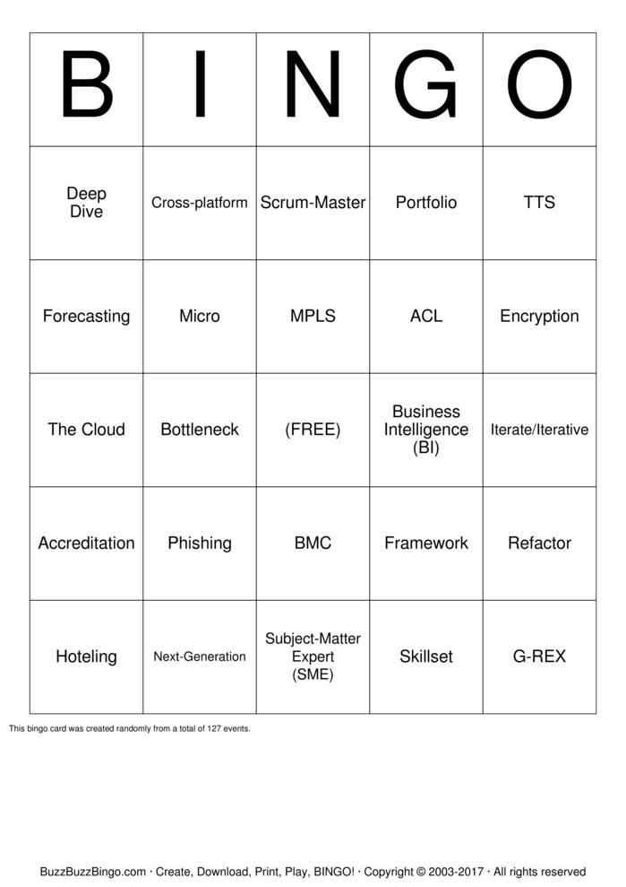 Download GSA IT Leadership Offsite Bingo Cards