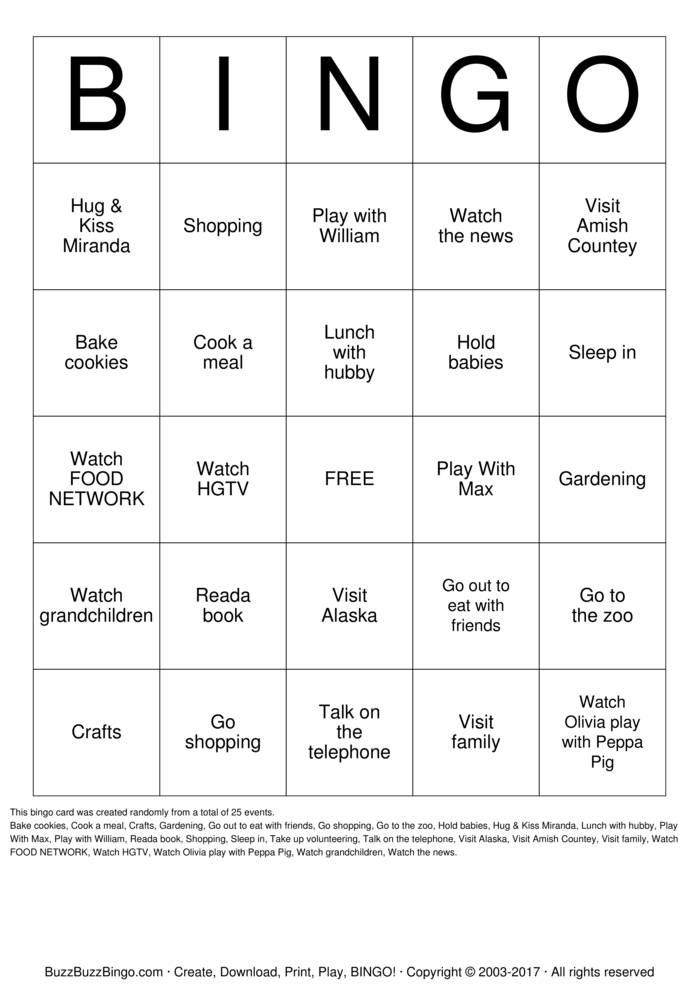 Download Retirement BINGO Bingo Cards