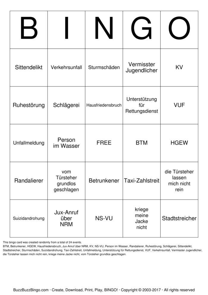 bingo anrufen