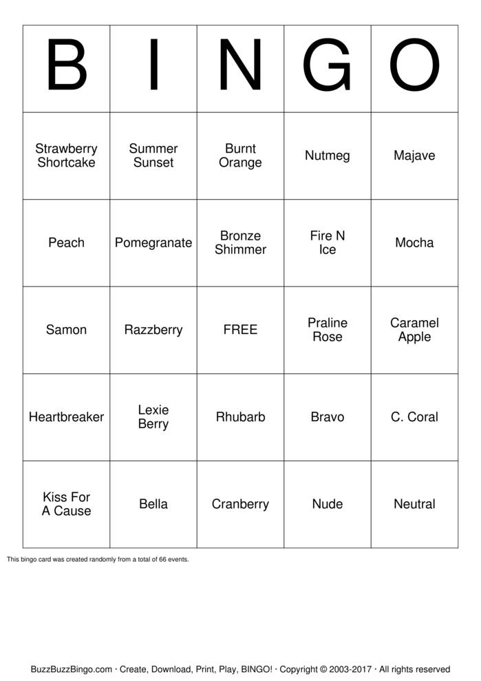 Download LipSense Bingo Cards