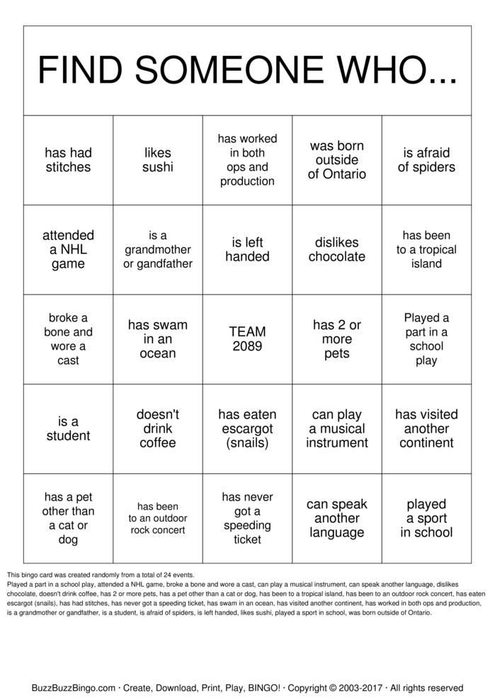 Download Value Village Bingo Cards