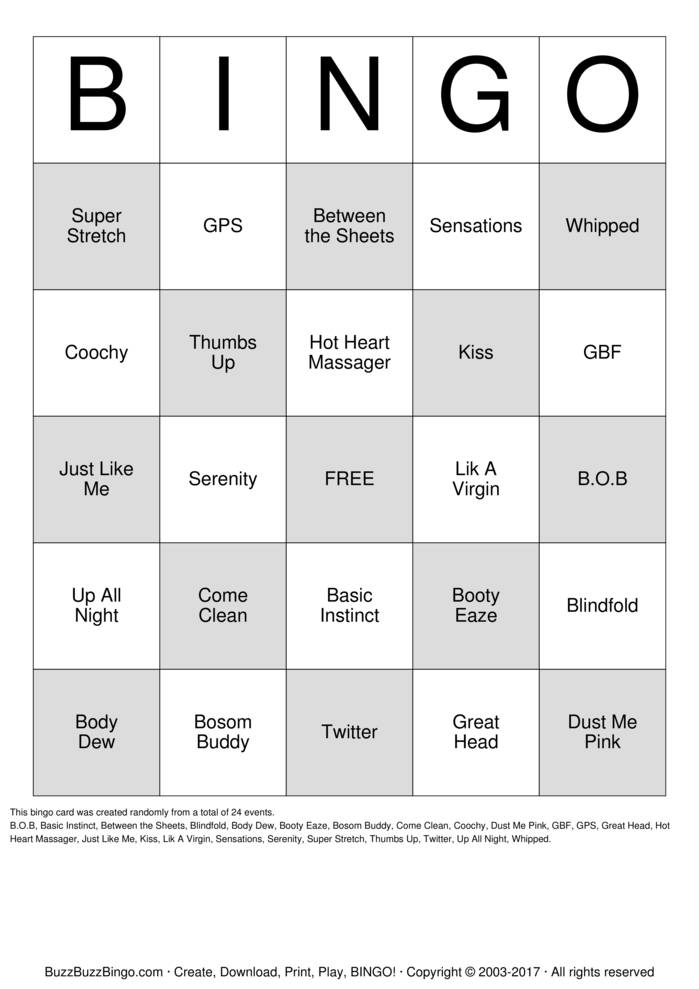 Pure Romance Bingo Cards To Download Print And Customize