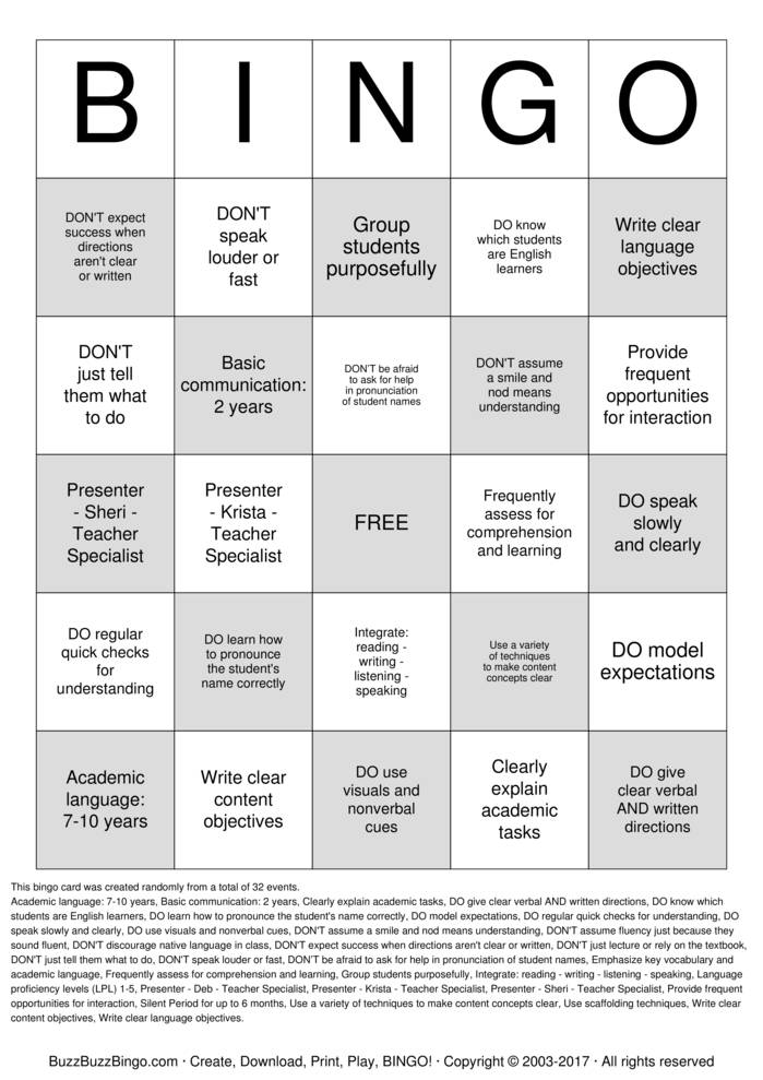 Download West Jordan Middle School Bingo Cards