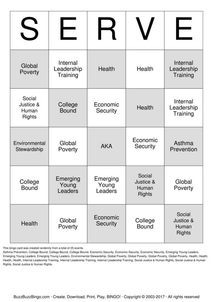 aka program initiatives bingo cards to download  print and