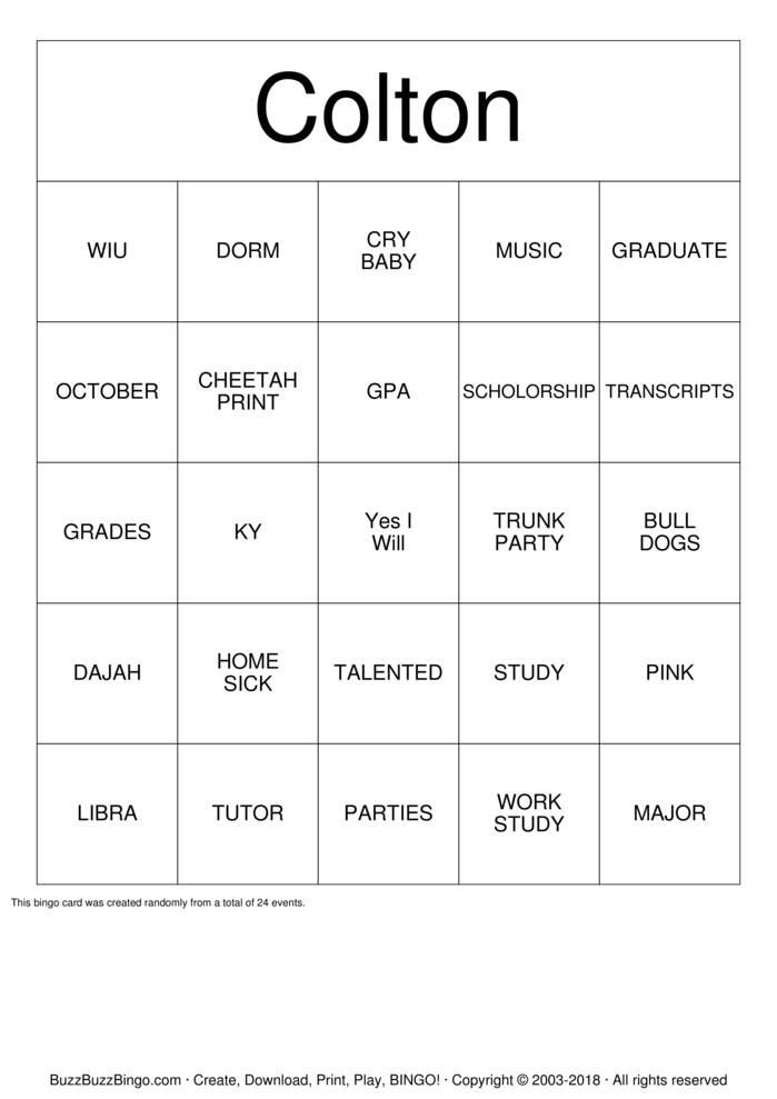 Download RIT Bingo Cards