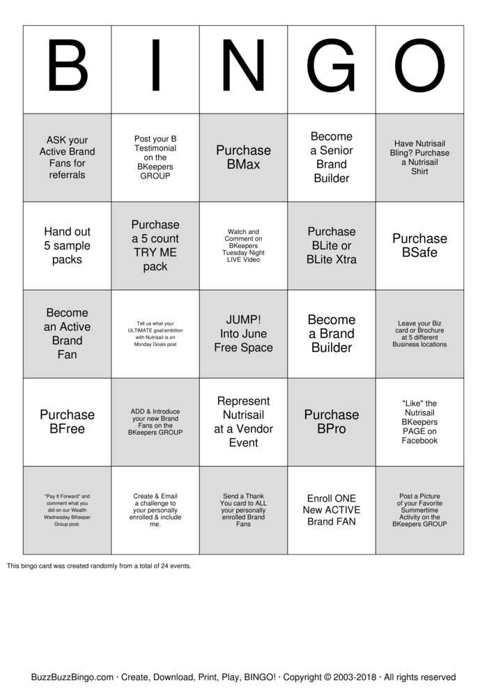 Download BKeepers Jump into June Bingo Cards