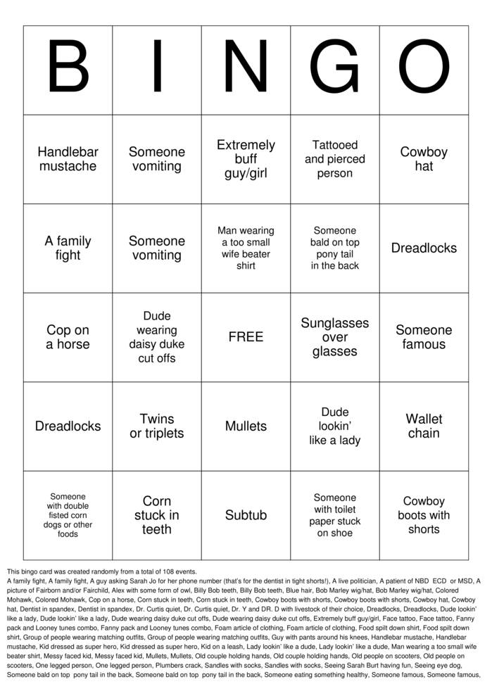 State Fair Bingo Bingo Cards To Download Print And