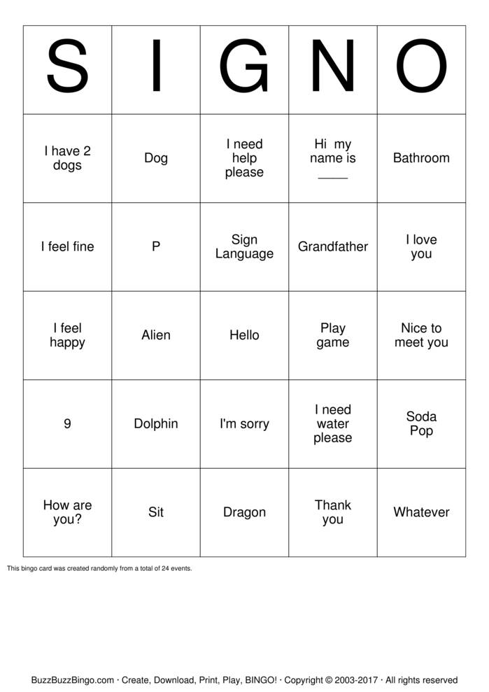 Download Camp MOE ASL Bingo Bingo Cards