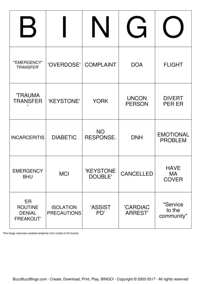 Download EMS Bingo Cards