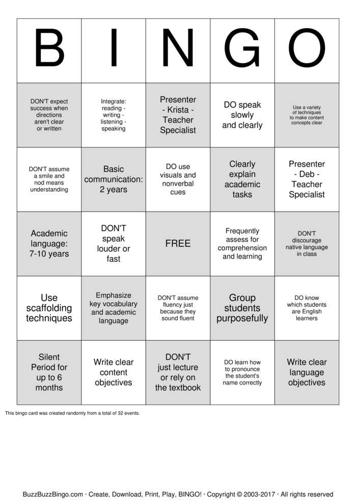 Download West Jordan Middle School Bingo Cards