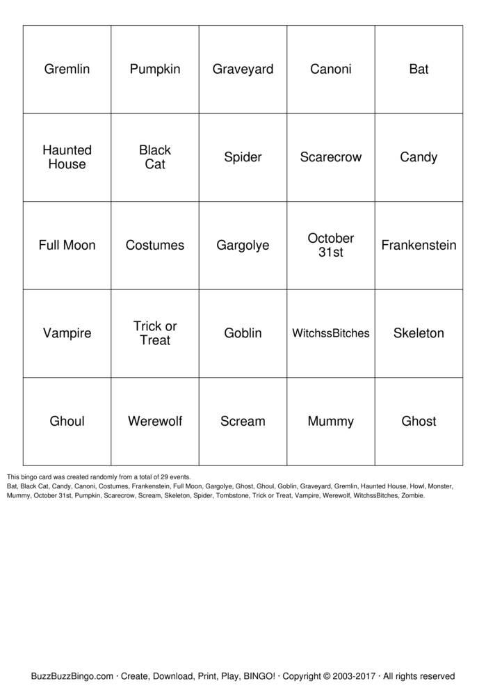 Wicked bingo
