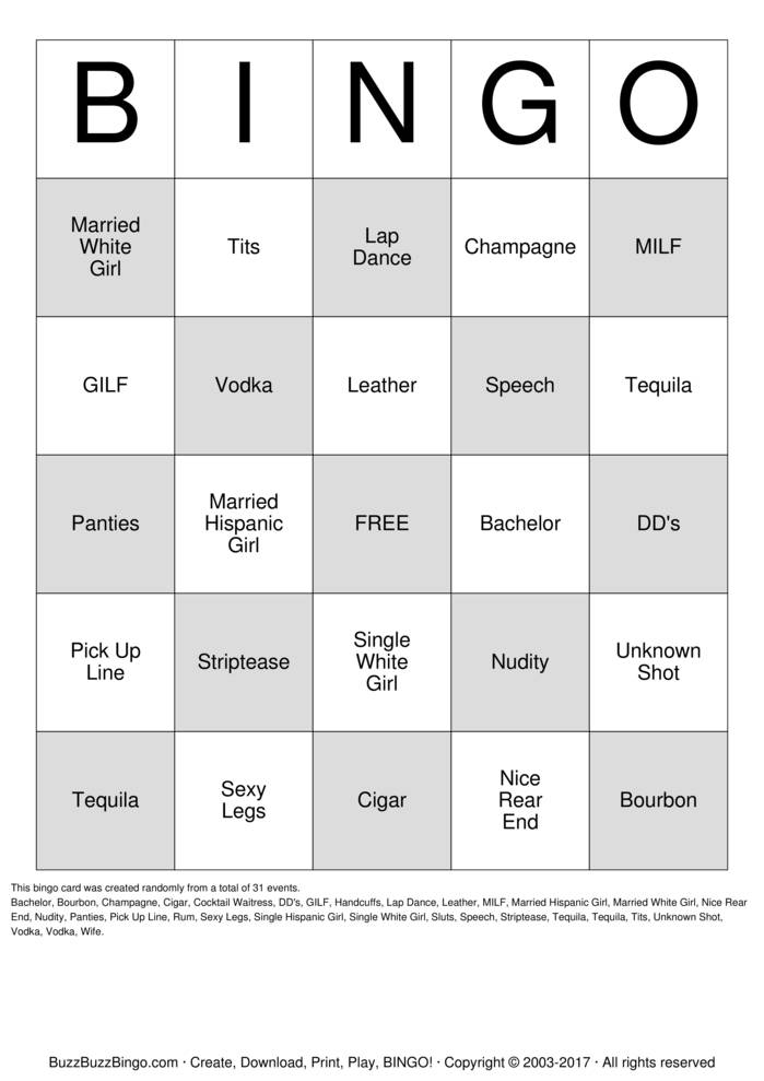 bachelor party bingo cards to download print and customize