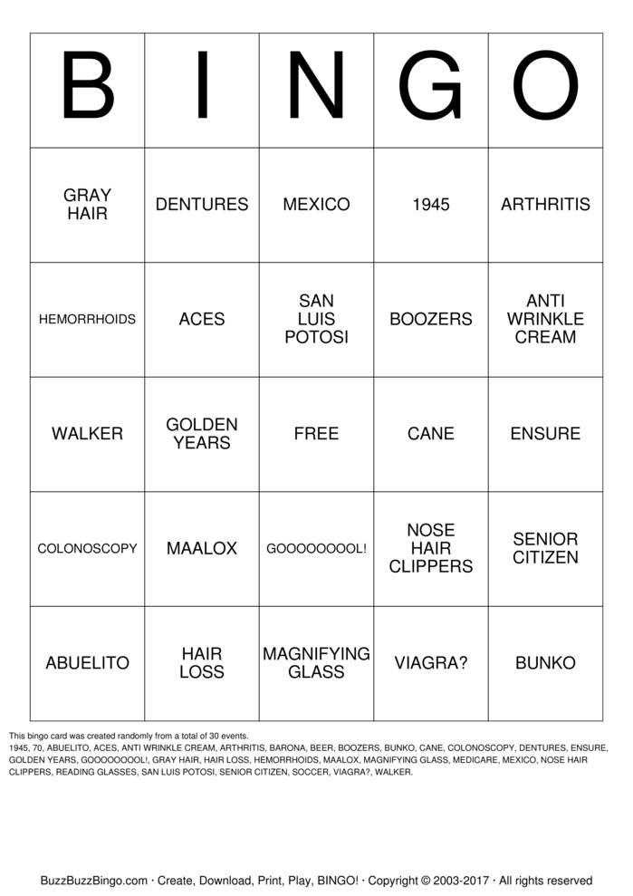 Download ISHY'S WAY OVER THE HILL Bingo Cards