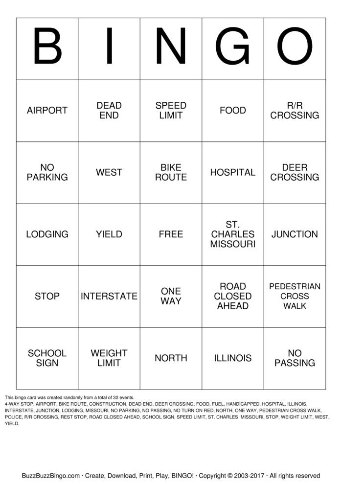 It's just a photo of Sizzling Traveling Bingo Cards