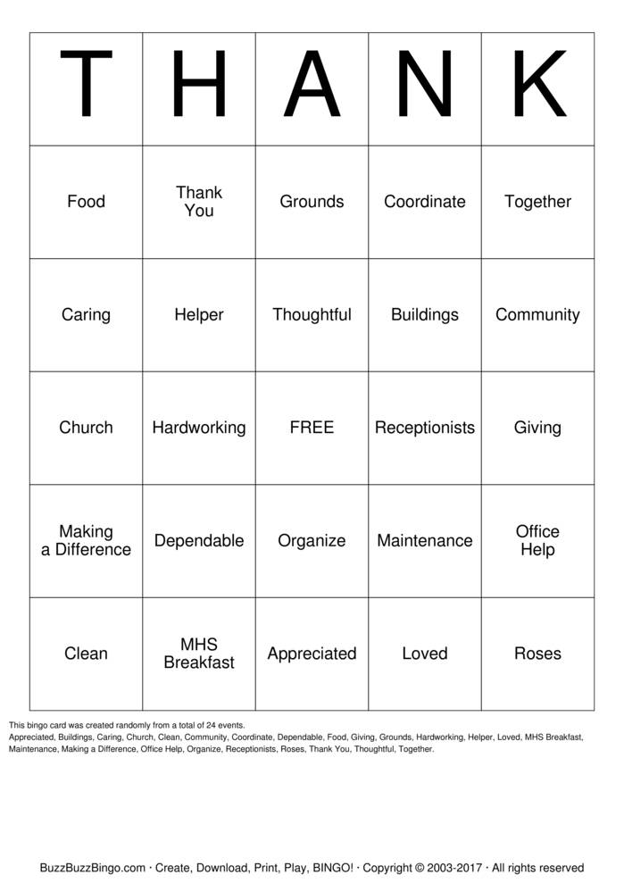 Download WCS Volunteer Appreciation Bingo Cards