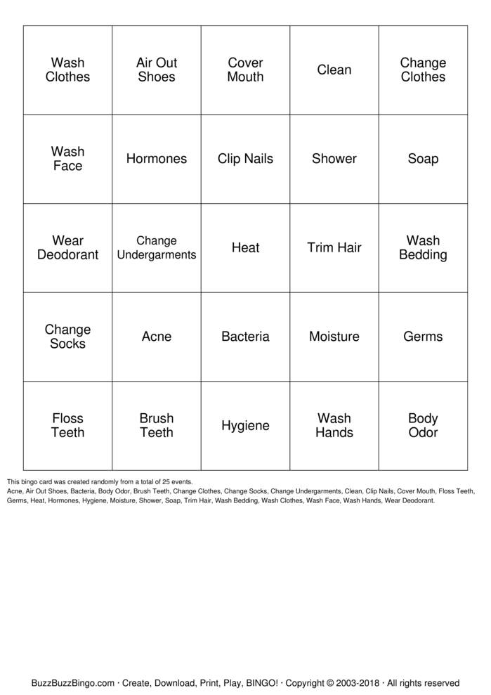 Download National Safety Month Bingo Bingo Cards
