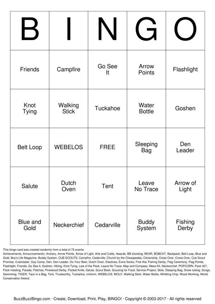 Download BLUE AND GOLD  Bingo Cards
