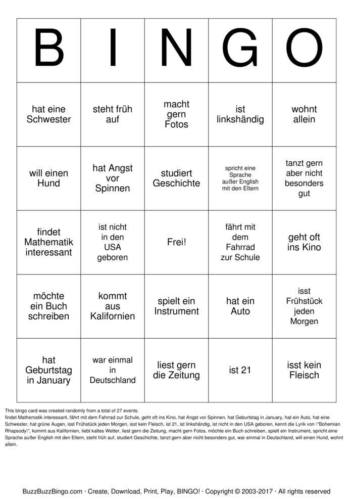 Finden Sie jemanden der Bingo Cards to Download, Print