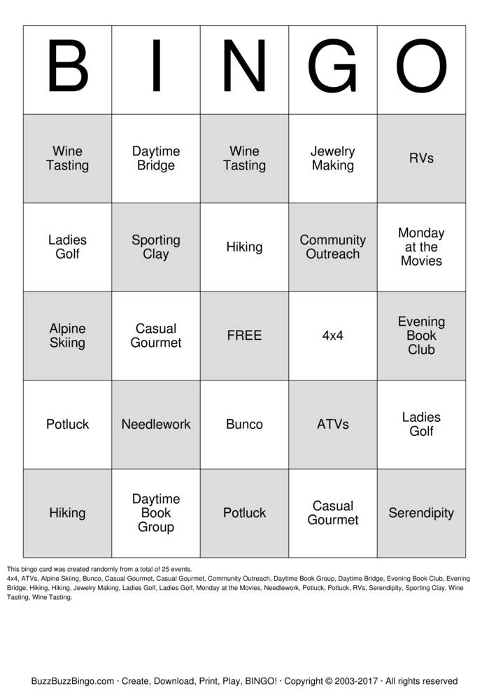 Custom bingo cards to download print and customize for 4x4 bingo template