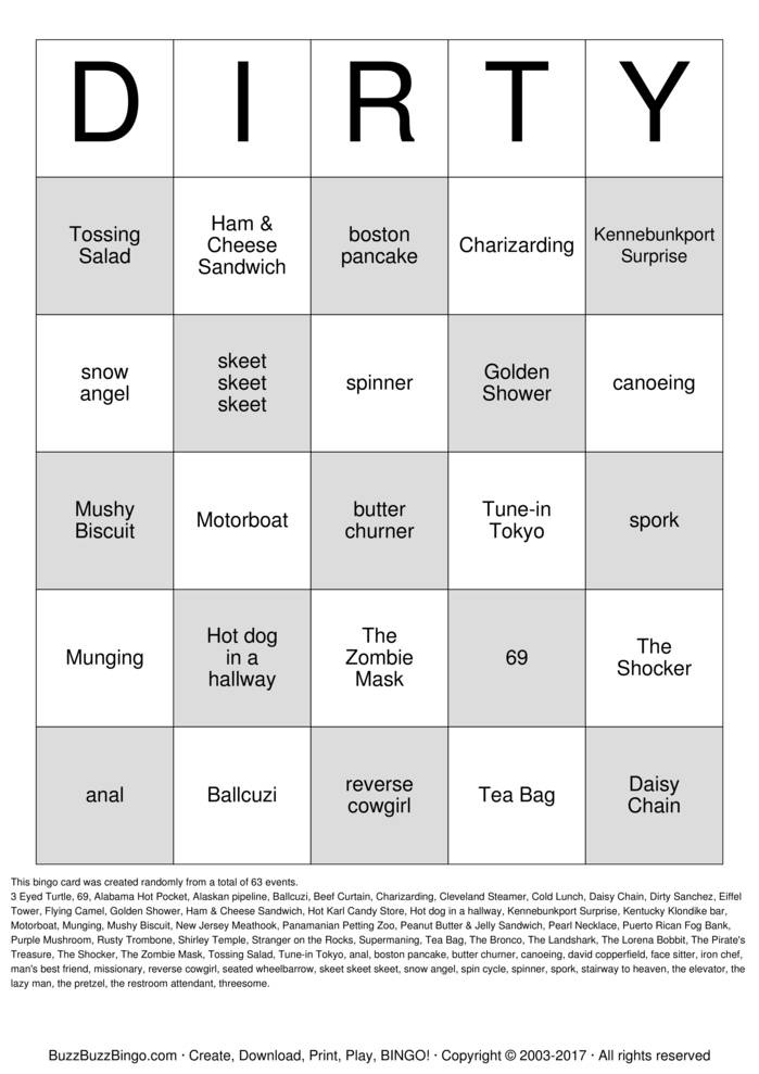 Dirty Bingo Cards To Download Print And Customize