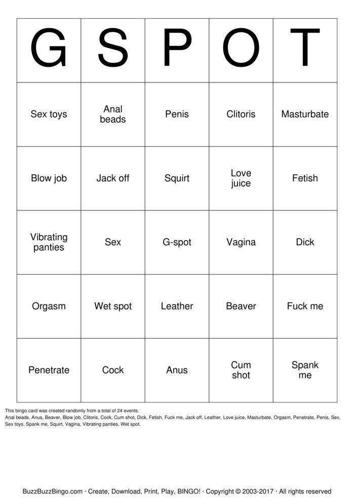 Download Sex Toy Bingo Cards