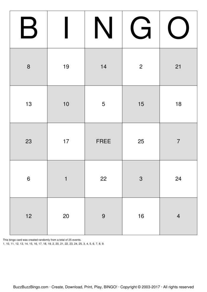 Bingo 25.12 17
