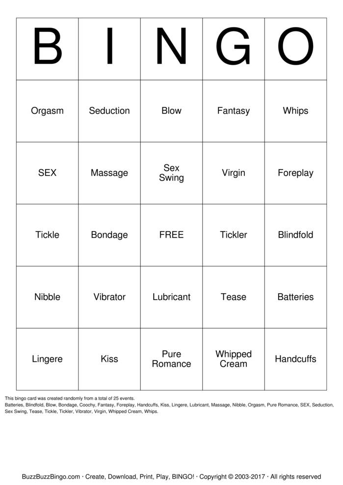 Download Sex Bingo Cards
