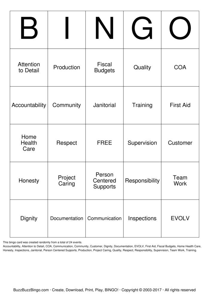 Download In-Service Day Bingo Cards