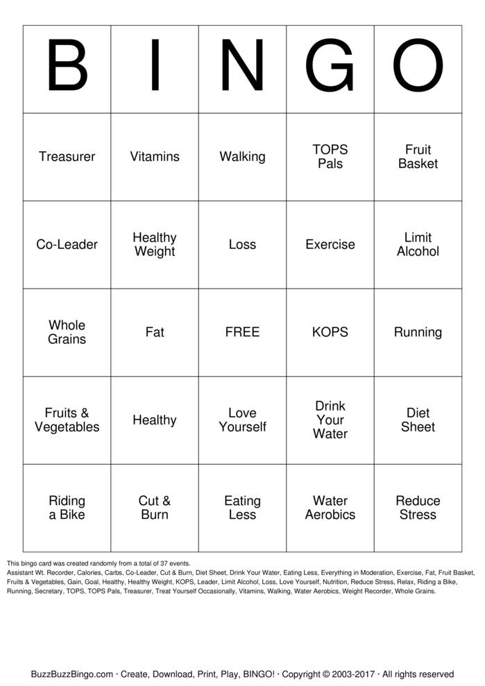 Bingo Cards to Download, Print and Customize!