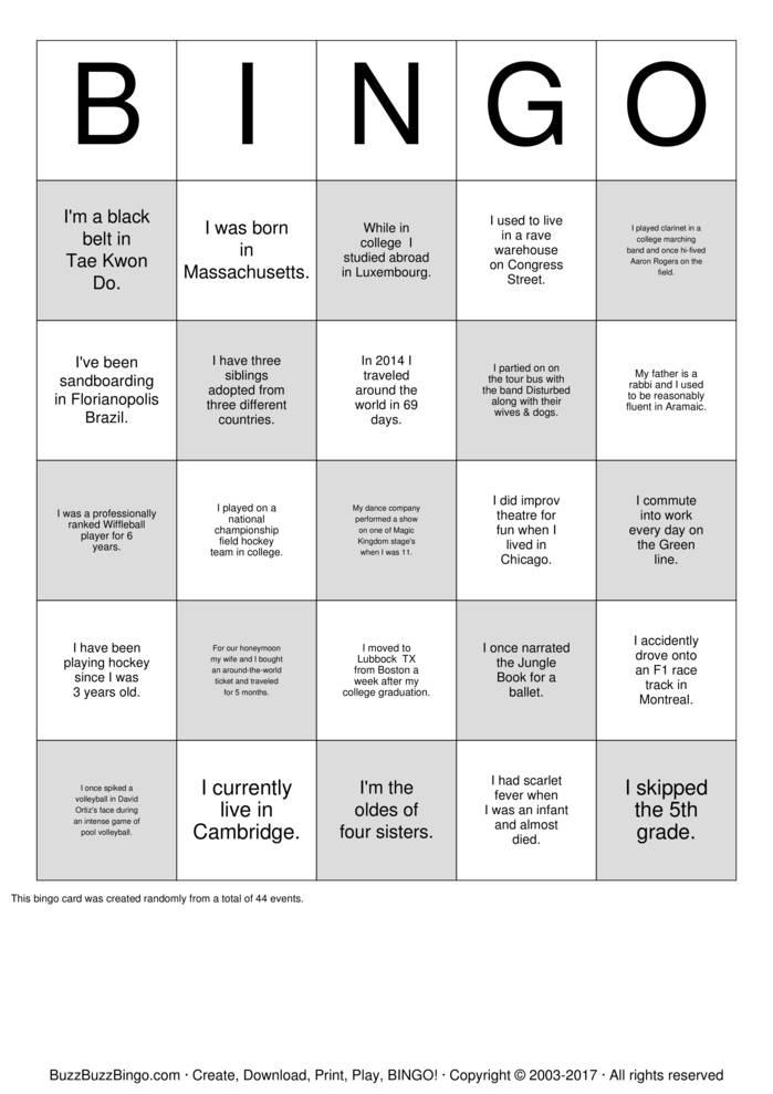Download Localytics Employee Bingo Bingo Cards