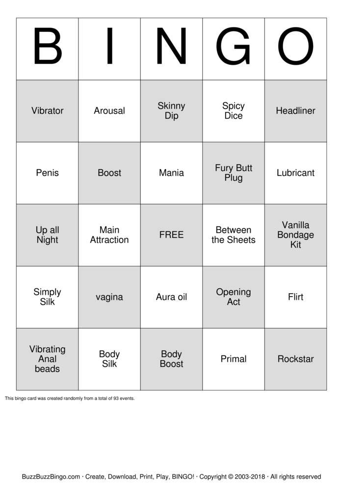 Download PURE ROMANCE Bingo Cards