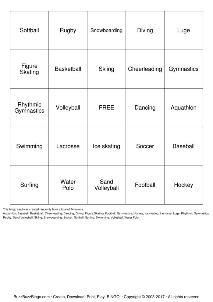 softball Bingo Cards to Download, Print and Customize!