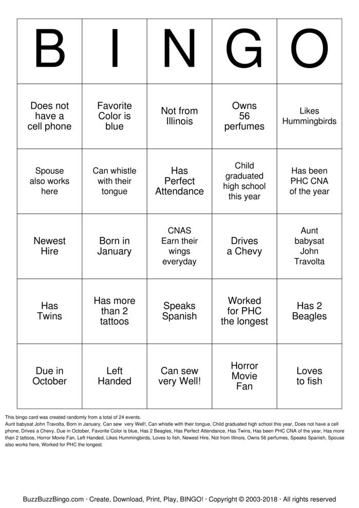 Download CNA Bingo Cards
