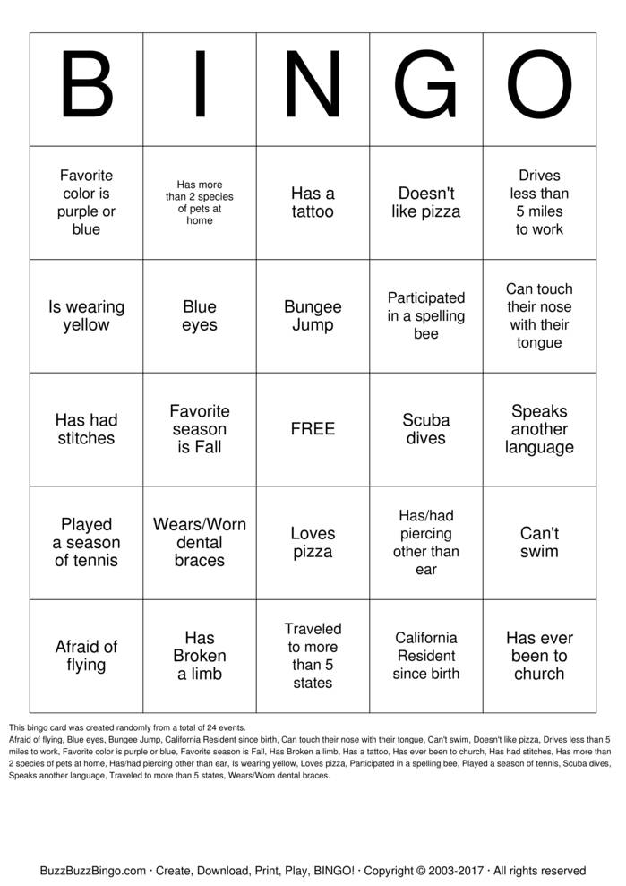 Download Assessor Party Bingo Cards