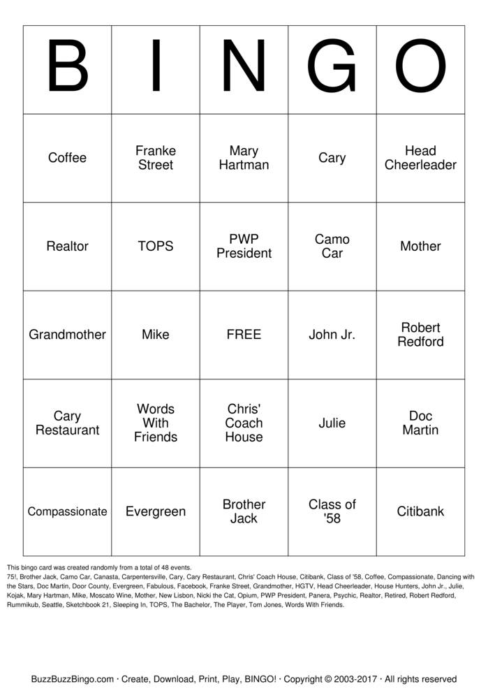 Download KATIE Bingo Cards
