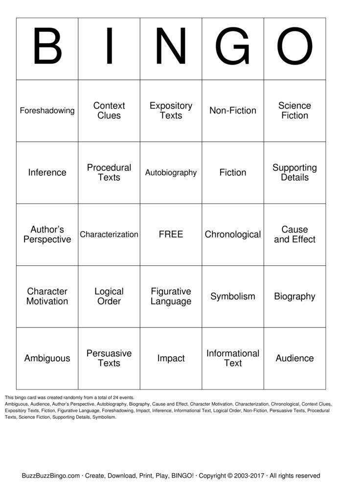 list all bingo games