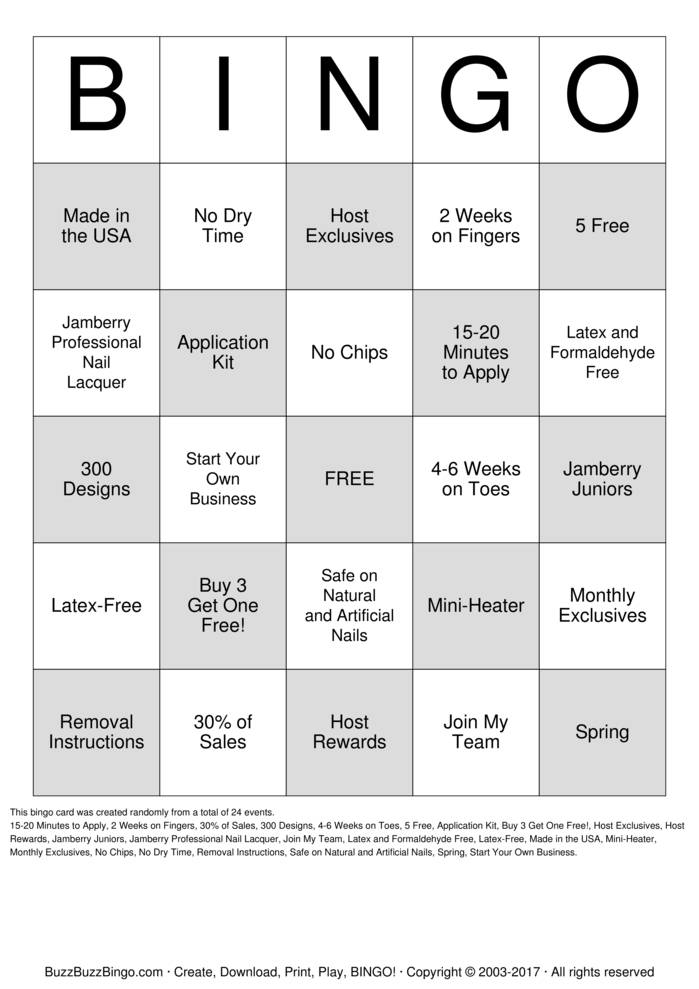 Free Bingo Card Generator - Printable Cards or Play Online