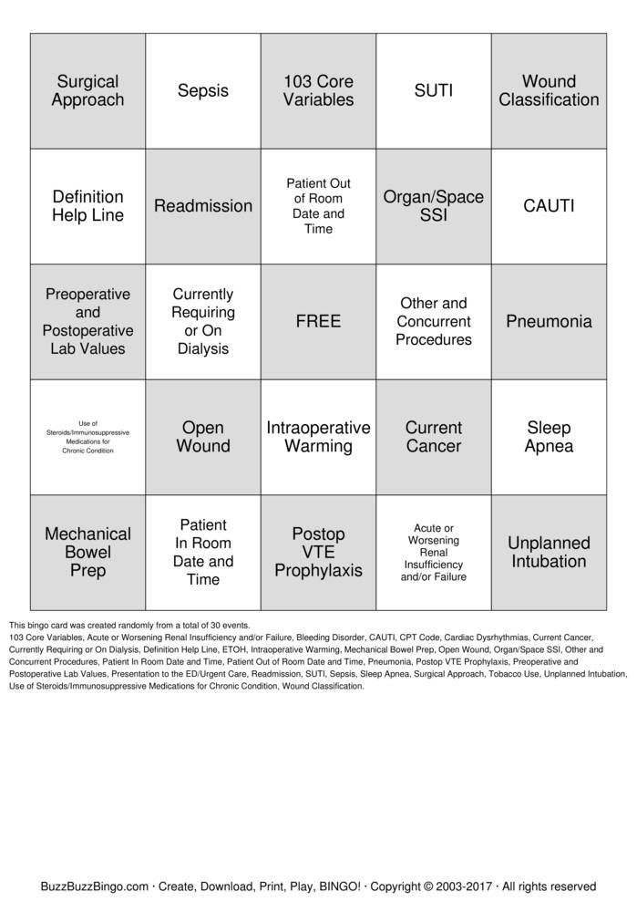 Download MSQC VARIABLE BINGO Bingo Cards