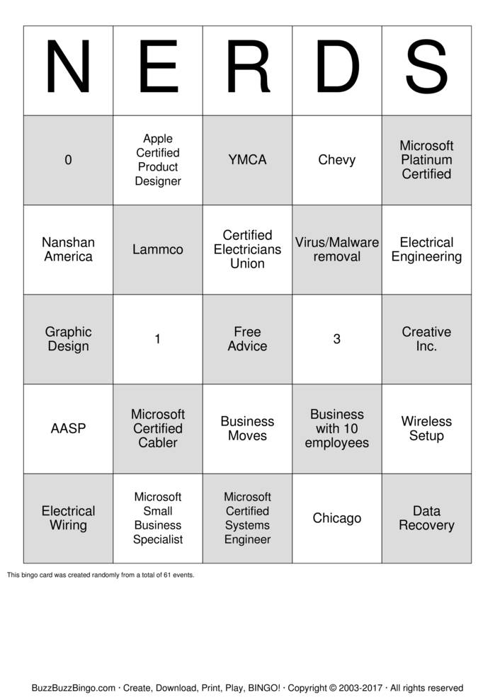 Download Abstract Technology Group Bingo Cards