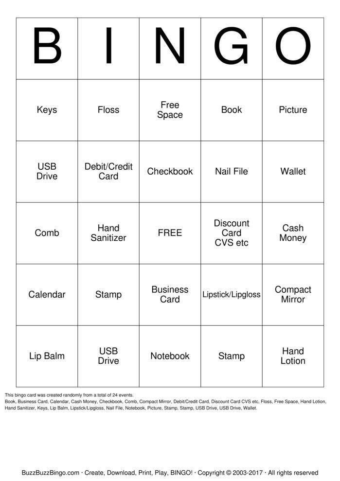 Custom bingo cards to download print and customize for Mirror bingo
