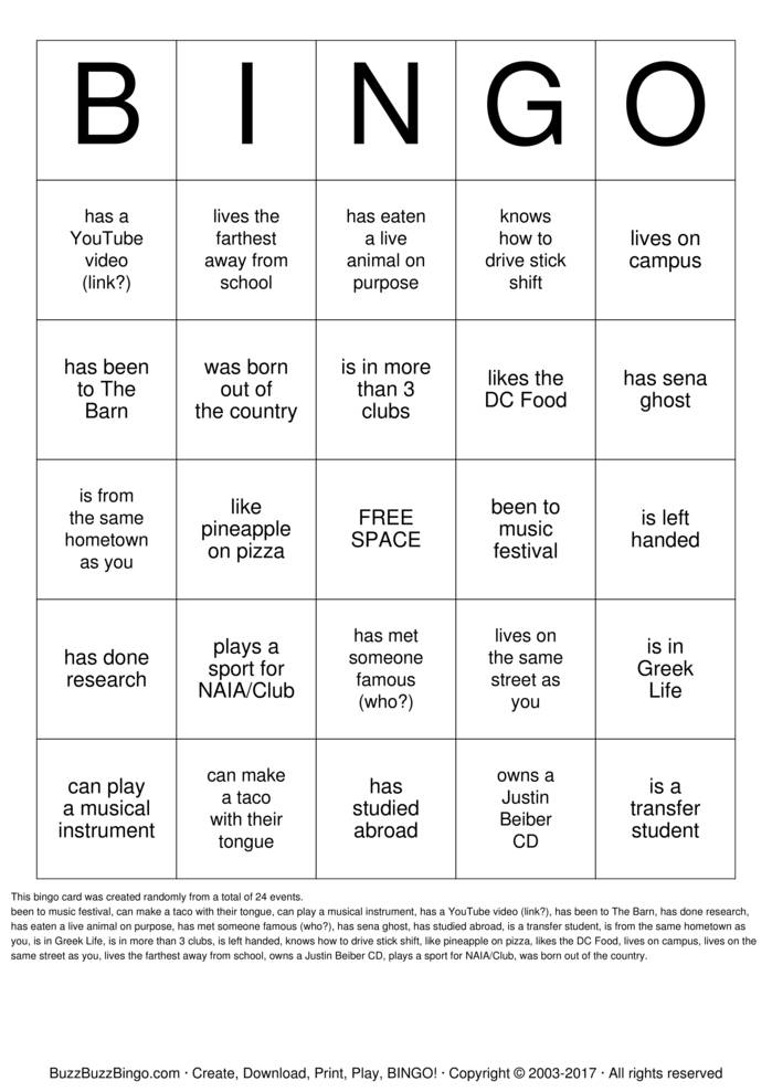 Download Tour Guide Bingo Cards