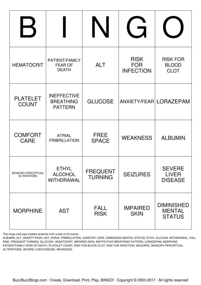 Download Nurse Bingo Cards