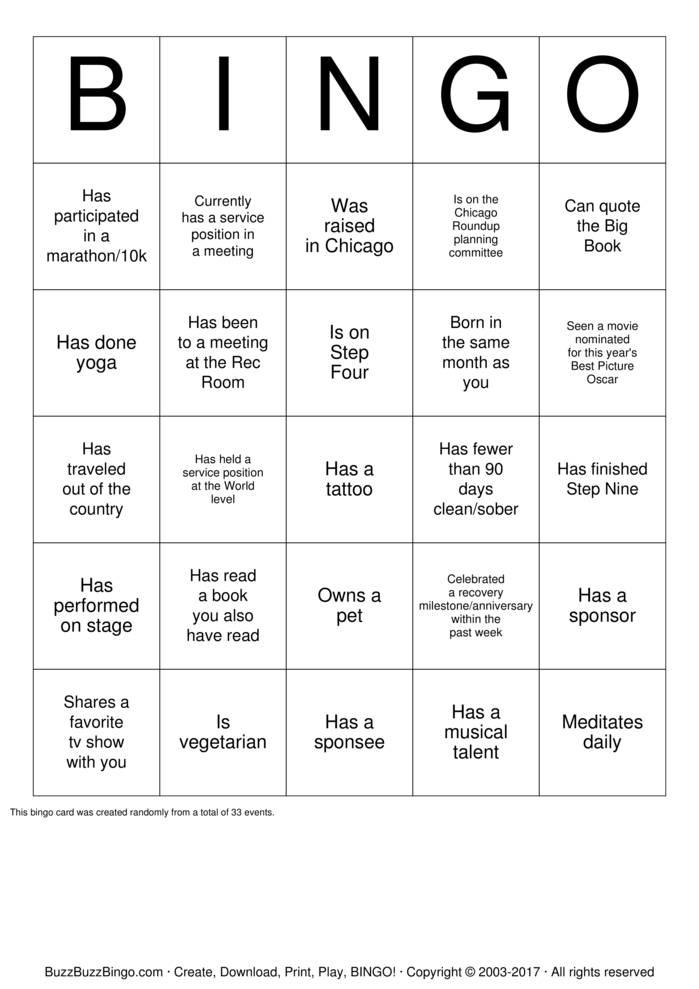 template for bingo
