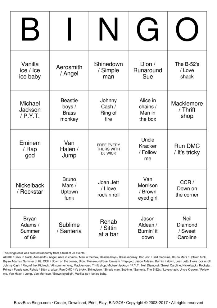 Download DETROIT PUB BINGO Bingo Cards
