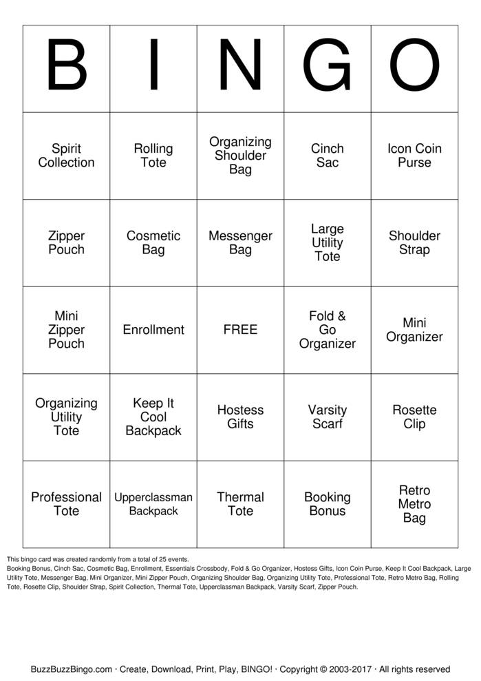 Mesmerizing image intended for back to school bingo printable