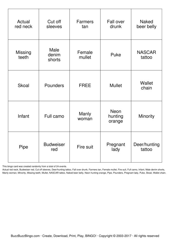 Download tatt2 Bingo Cards