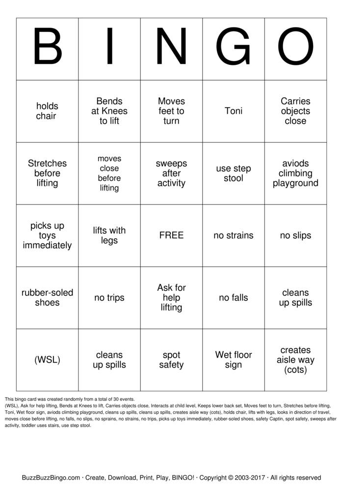 Bsafe Bingo Cards To Download Print And Customize