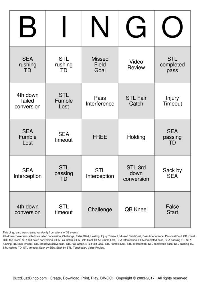 Download Leadership Summit Football Bingo Cards